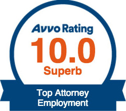 Avvo Rating 10.0 Topy Attorney Employment