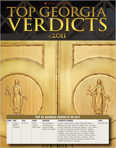 Top Georgia Verdicts 2011
