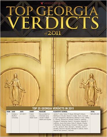 Top Georgia Verdicts 2011